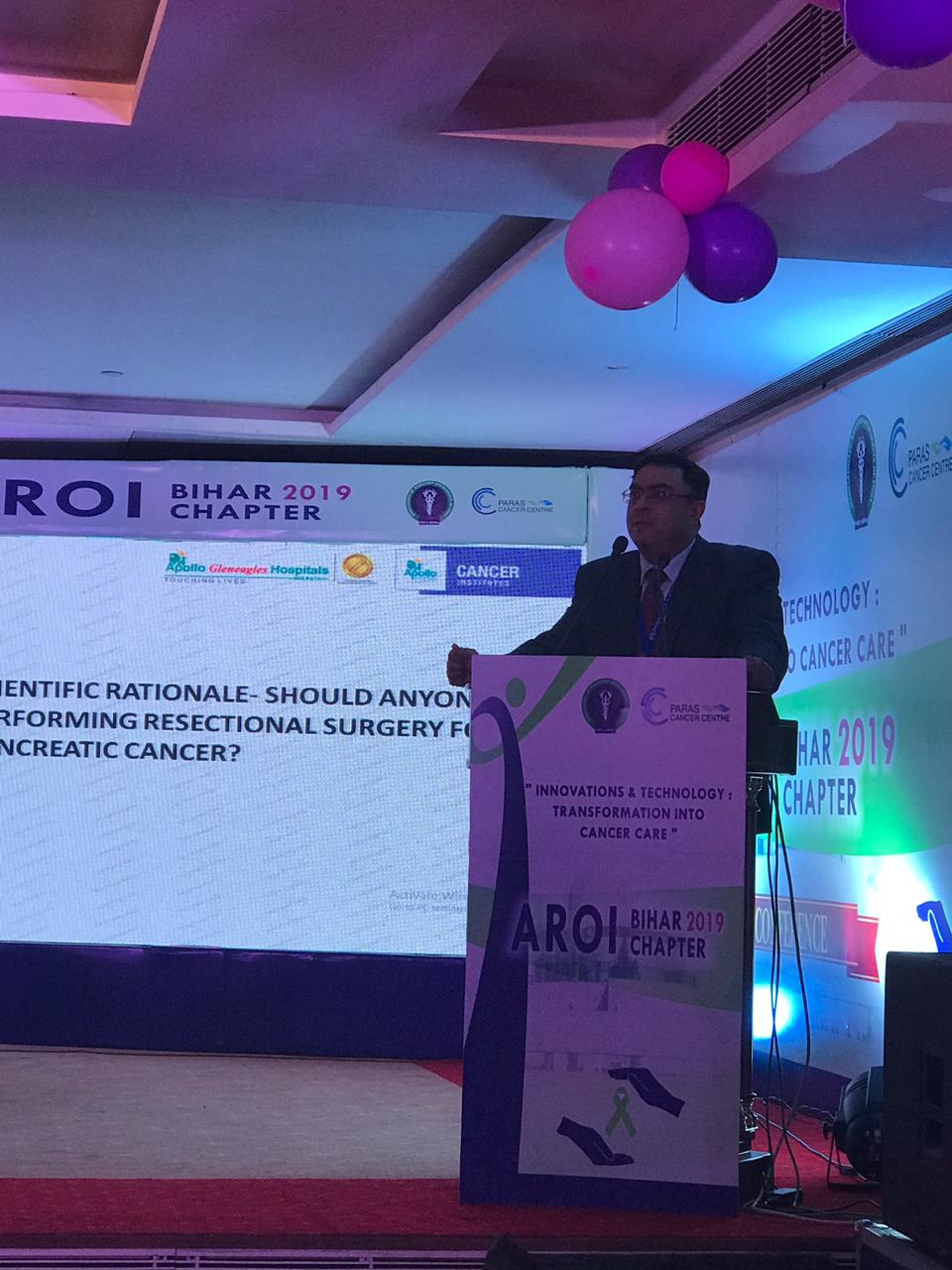 Addressing the Association of Radiation Oncologists of Bihar at Patna.